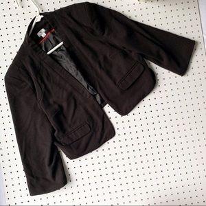 WORTHINGTON women's cropped black blazer XL